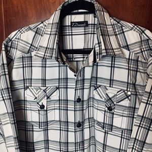 7 diamonds casual button down, sz XL
